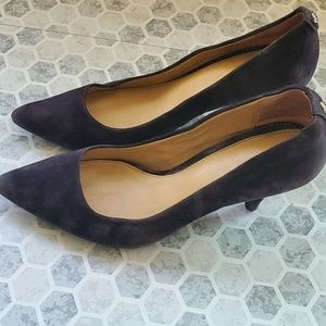 Michael Kors black Velvet pointed toe heels